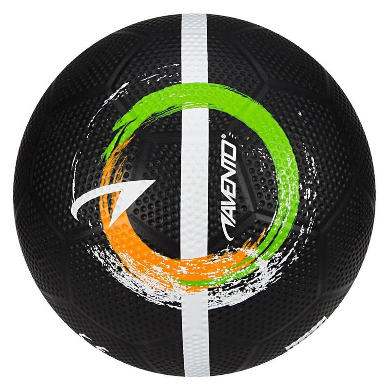 Zwarte speelgoed voetbal 21 cm-maat 5 voor kinderen-volwassenen