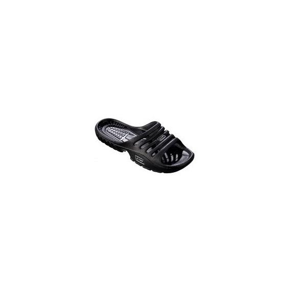 Zwarte zwembad of sauna slippers voor dames