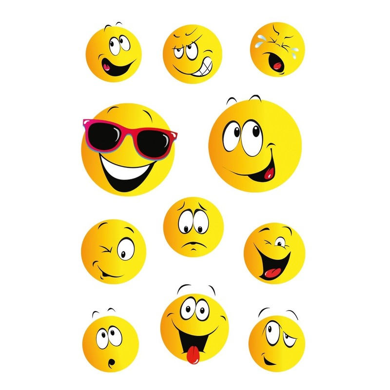 33x Smiley-emoticons stickers