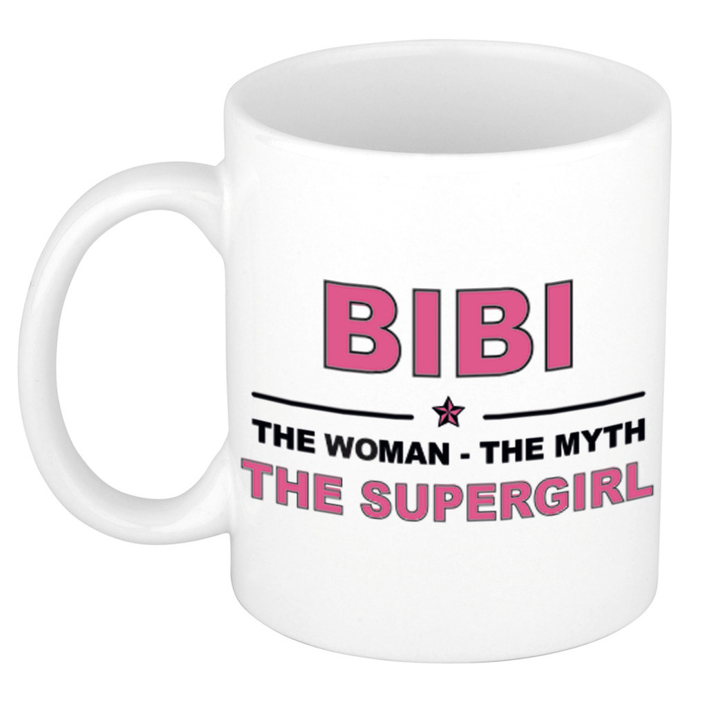 Bibi The woman, The myth the supergirl cadeau koffie mok-thee beker 300 ml